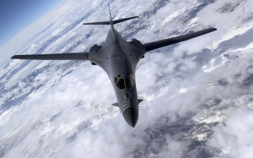 Neviditelný bombardér B-1B Lancer na Dnech NATO v Mošnově