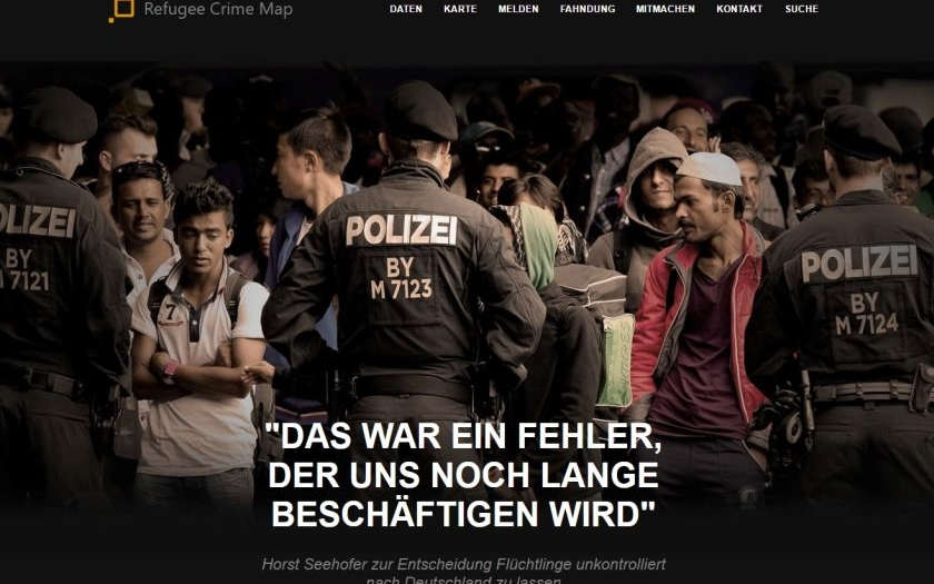 &quote;Německo je v katastrofálním stavu,&quote; tvrdí autor webu. Němci začali systematicky dokumentovat trestnou činnost přistěhovalců