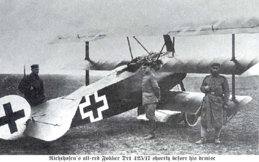 Před 99 lety zemřel Manfred von Richthofen, nepřáteli přezdívaný Rudý baron