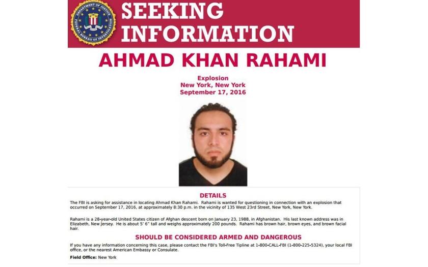 Americká policie dopadla Afgánce Rahamiho podezřelého z teroristického útoku