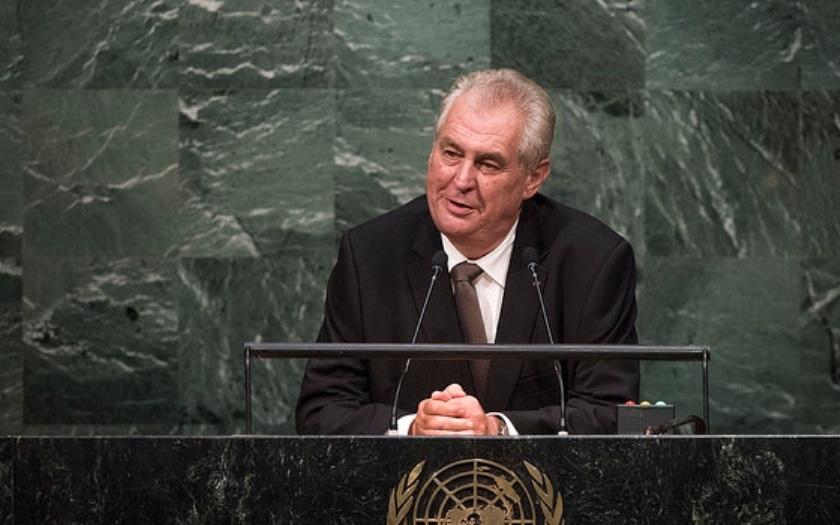 Prezident Zeman dnes vystoupí na zasedání Valného shromáždění OSN