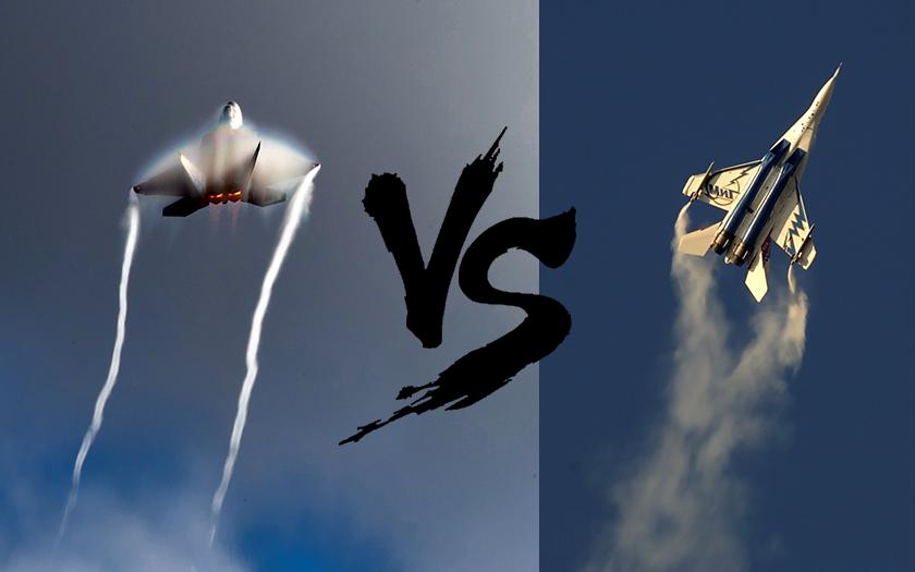 VIDEO: Kdo má drsnější start - F-22 vs. Mig-29