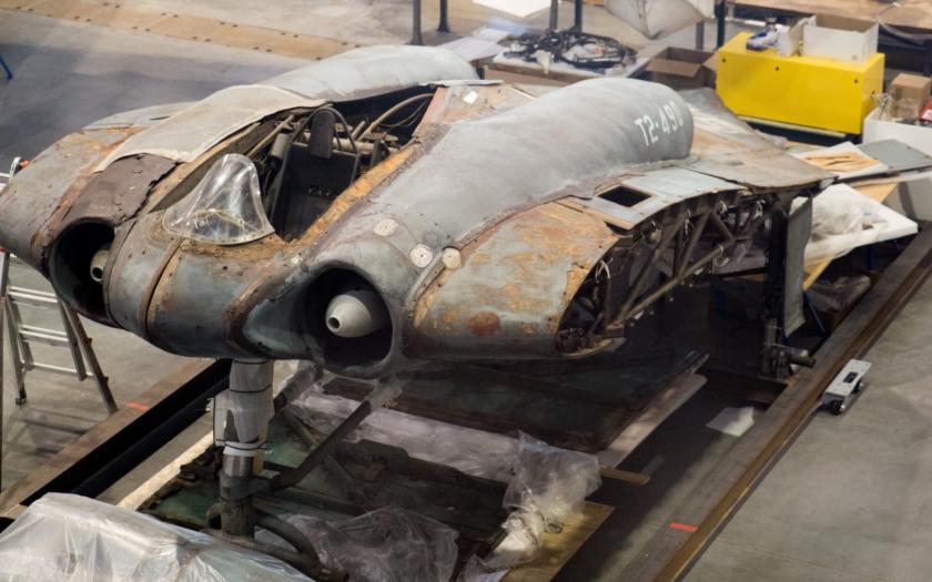 Fotogalerie: Restaurování vzácného stroje Horten 229 V3