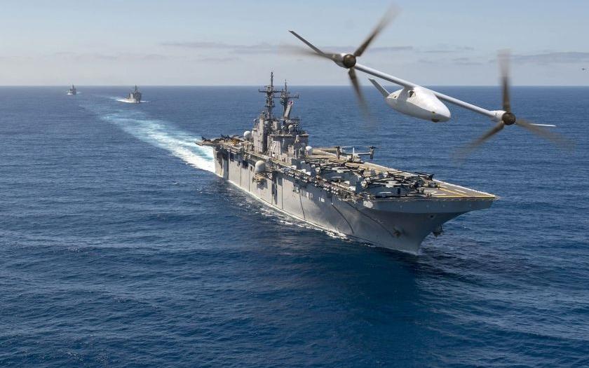 Nový bojový dron s kolmým startem pro americkou námořní pěchotu