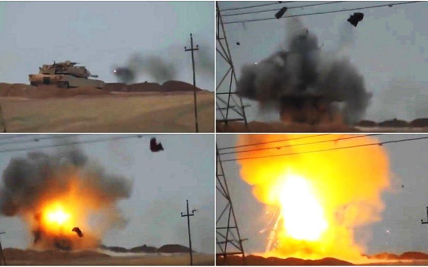 Video: Islámisté zlikvidovali americký tank Abrams ruskou řízenou střelou Kornet