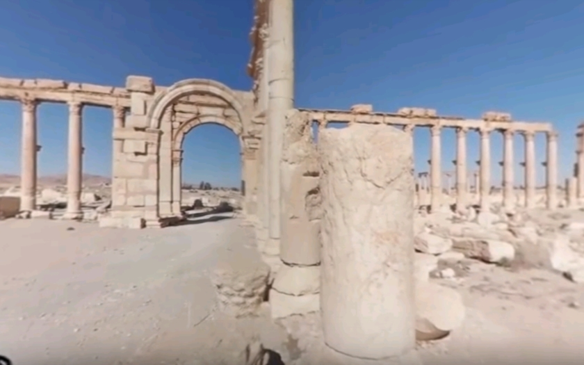 (VIDEO 360°) Jazvy ktoré zanechal Islamský štát v Palmýre