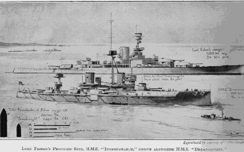 HMS Incomparable: Gigantický bitevní křižník admirála Fishera