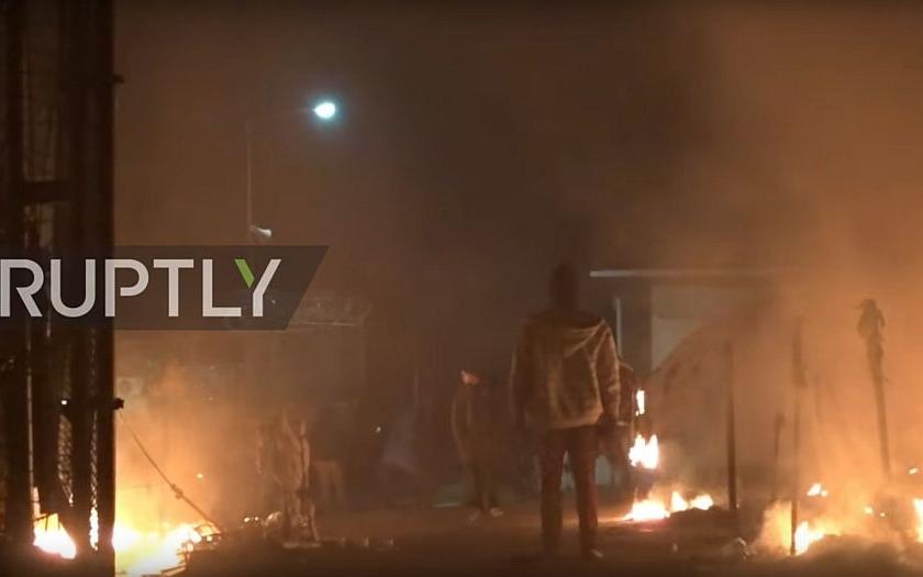 Vzpoura imigrantů v táborech v Bulharsku a v Řecku