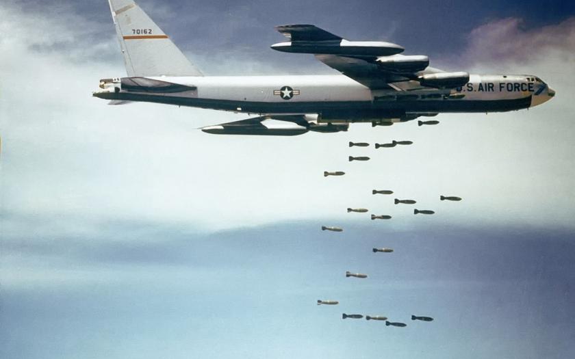 Zničujúce výsledky kobercového bombardovania