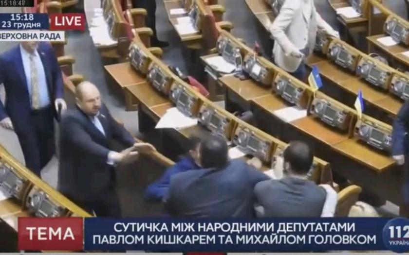 Bitka v ukrajinskom parlamente, Kishkar vs Golovko