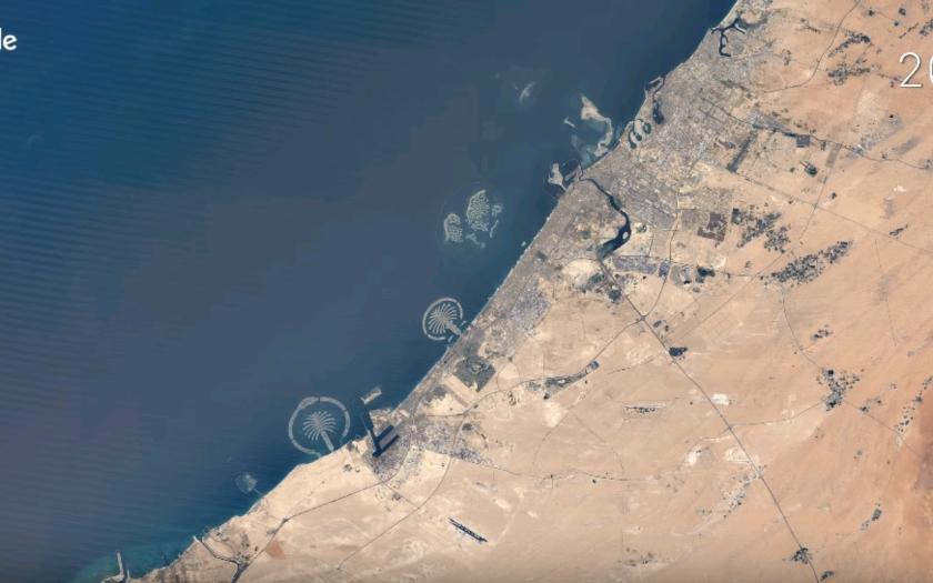Časozberné videá od Google Earth, zaznamenávajú zmeny na zemskom povrchu, za posledných 33 rokov