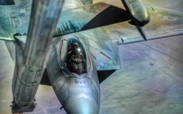 Raptory F-22 nad Sýrií