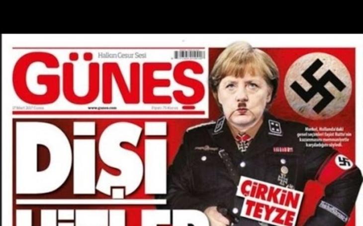 Erdogan si dál libuje ve fašistech: Z Merkelové je teď ,,paní Hitlerová&quote;