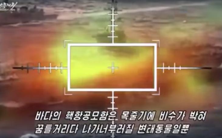 Video: Severní Korea útočí na USS Carl Vinson