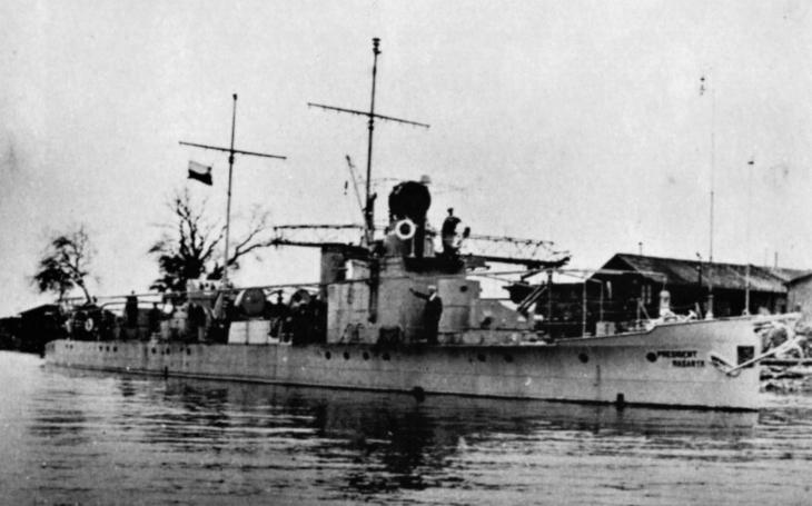President Masaryk - československá válečná loď ve službách Německa potopila dva sovětské čluny