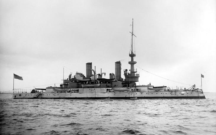 USS Indiana v roku 1898 - unikátní původní záběry