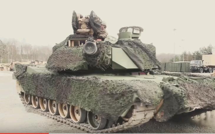 Americká vojenská technika, počas cvičení v Nemecku