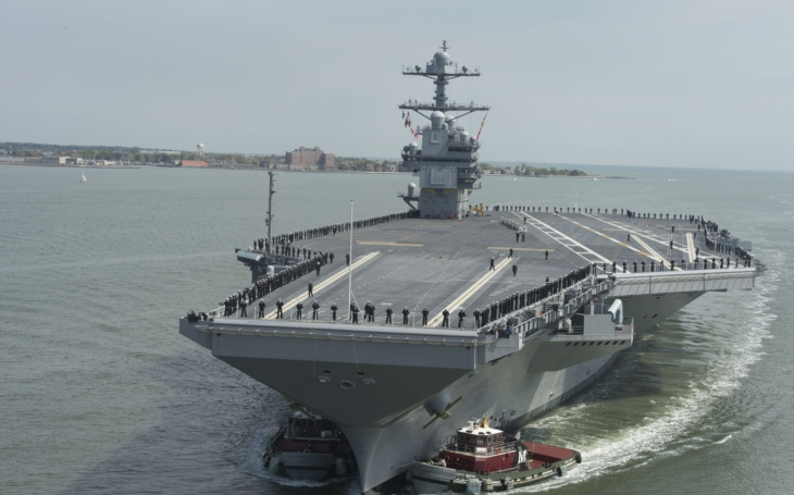Obrovská &quote;superletadlová&quote; loď USS Gerald Ford připravena k akci