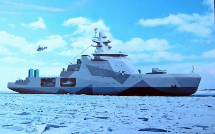 V Rusku byl položen kýl arktické hlídkové lodi Ivan Dmitrijevič Papanin