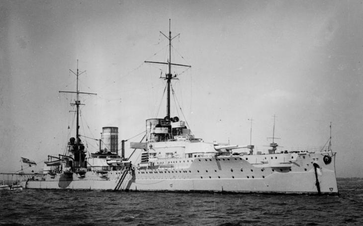 Unikátní video císařského bitevního křižníku SMS Von der Tann