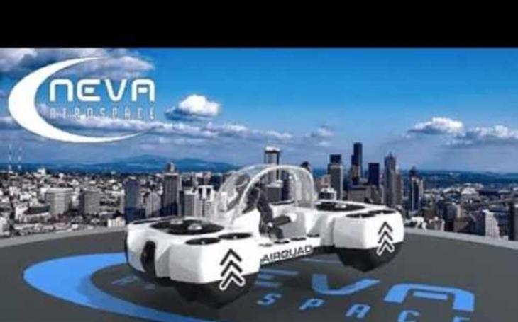 Je to létající auto, dron či kvadrokoptéra? Neva Aerospace představila karbonové vozidlo budoucnosti
