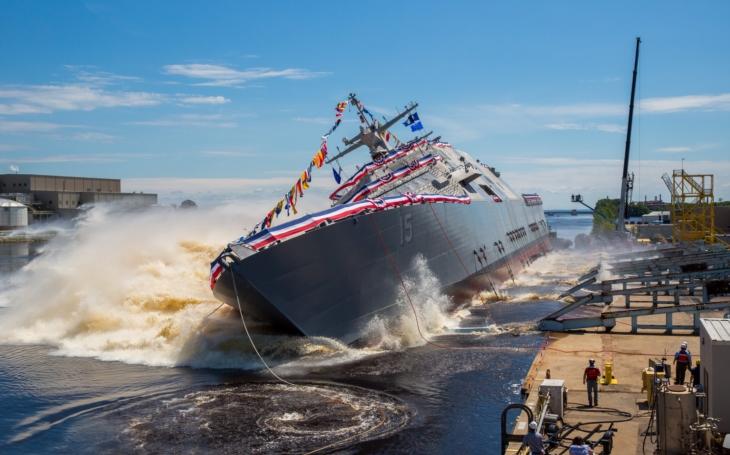 Video:  Spouštění nejnovější lodi třídy LCS, USS Billings na vodu