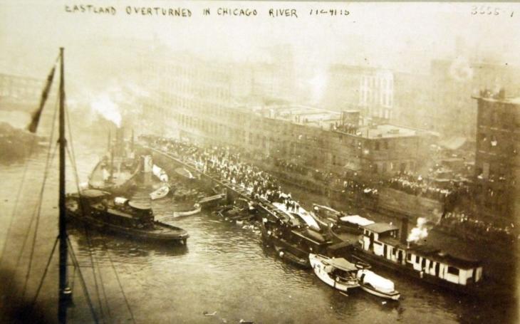 Loď, která se stala smrtící pastí. Na parníku SS Eastland zahynulo přes 200 Čechů
