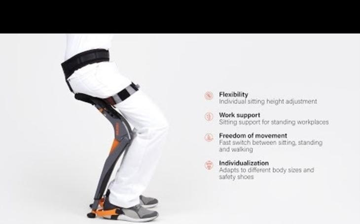 VIDEO: S flexibilním exoskeletonem už nebudete potřebovat židli