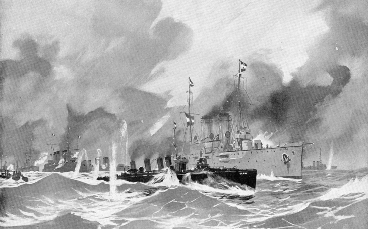 Hrdinný boj křižníku SMS Zenta proti 17 lodím Dohody