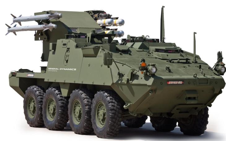 Nový Stryker jako zabiják Migů, Suchojů a Kamovů
