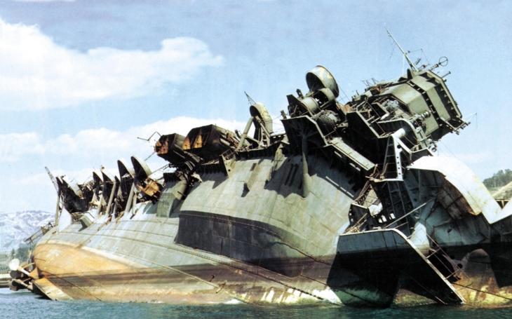 Video: Vrak japonské letadlové lodi Amagi v roce 1946