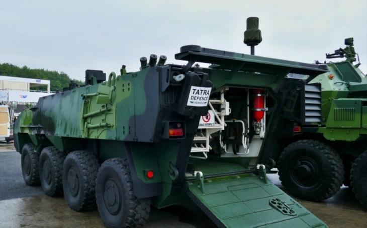 Společnost TATRA DEFENCE VEHICLE představila na Dnech NATO samohybný minomet na podvozku Pandur II CZ