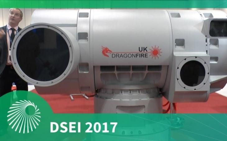 Na veletrhu obranného průmyslu DSEI bylo představeno laserové dělo UK Dragonfire