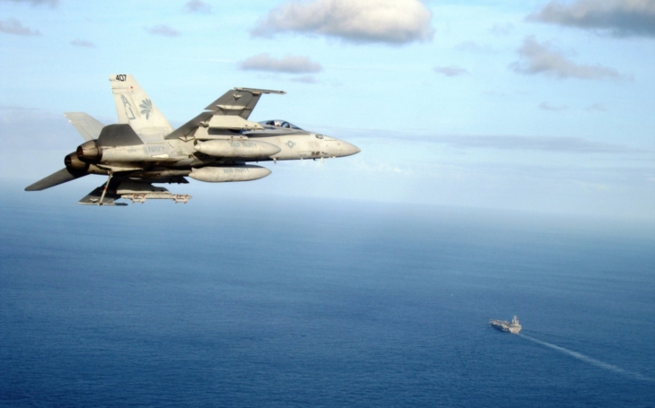 Video sestřelu syrského Su-22 americkým F / A-18E Super Hornet