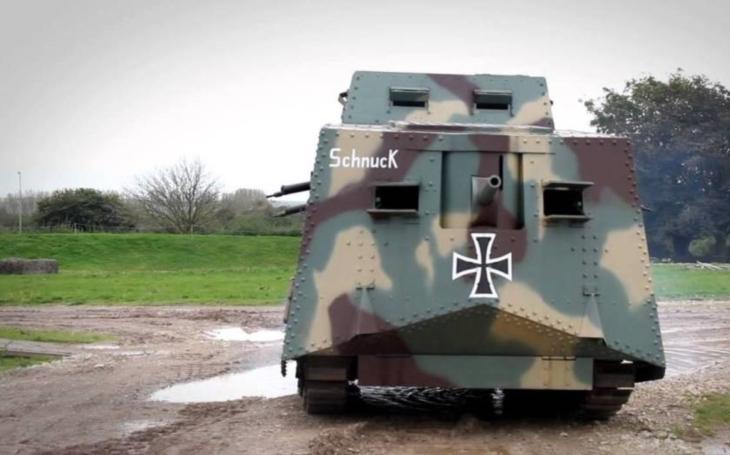 Jediný německý sériový tank první světové války byl A7V