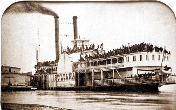 Titanic Mississippi - kolesový parník Sultana se stal hrobem pro 1 500 lidí