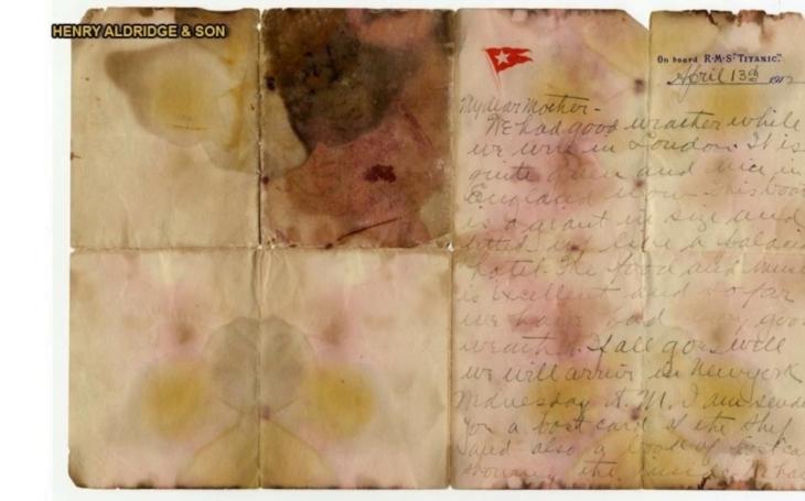 Dopis z cestujícího z Titaniku se vydražil za více než 3 miliony korun