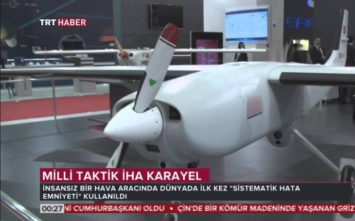 Turecko představilo ozbrojenou verzi svého dronu Karayel