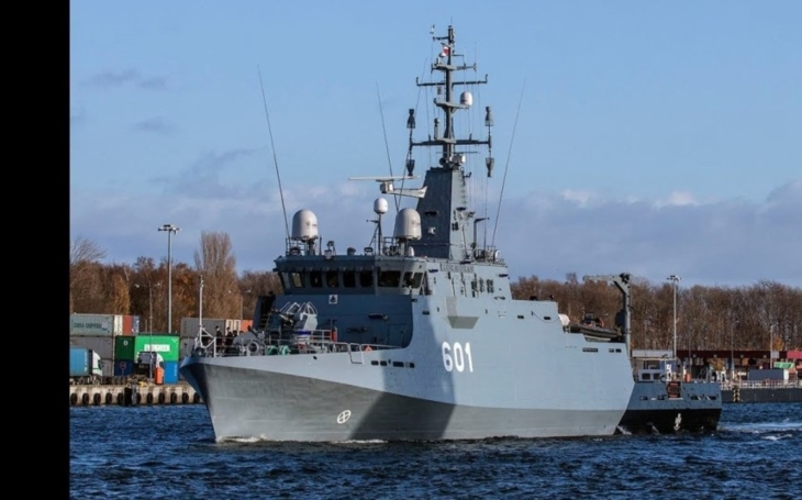 Polské námořnictvo uvedlo do služby novou minolovku ORP Kormoran
