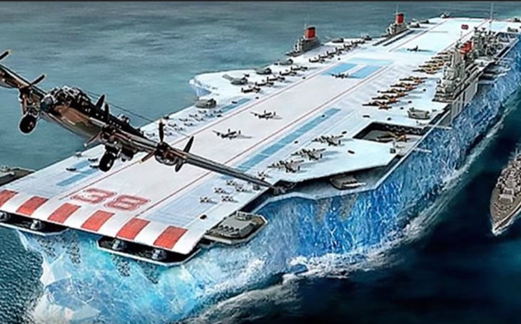 Kanada chtěla postavit letadlovou loď z ledu. Nová zbraň měla čelit německým U-Boatům