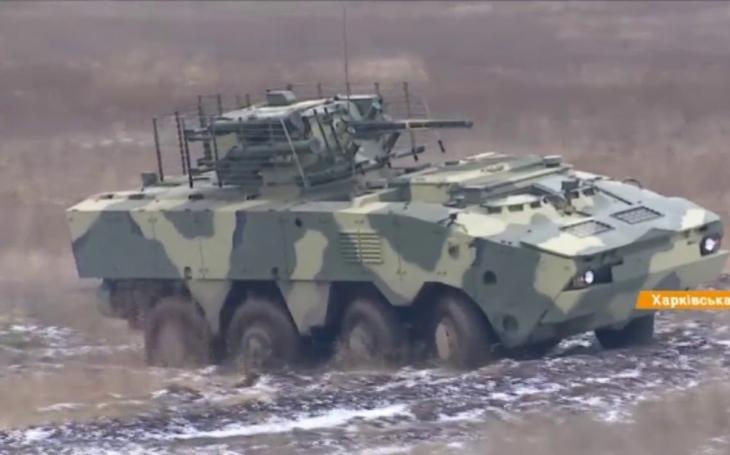 Nové ukrajinské bojové vozidlo pěchoty BTR-4MV1 podstoupilo první testy
