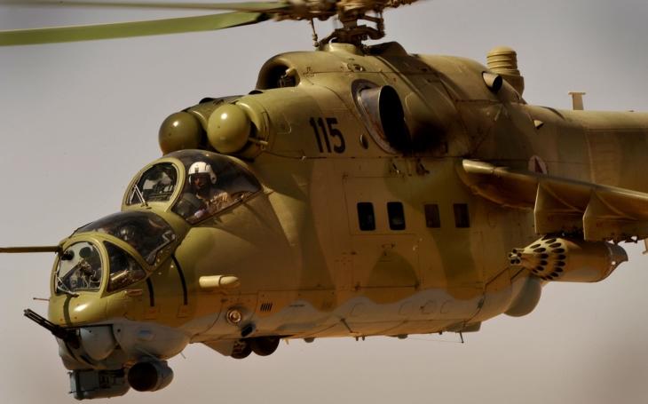 Zábery priamo z kabíny bojového vrtuľníka  Mil Mi-24