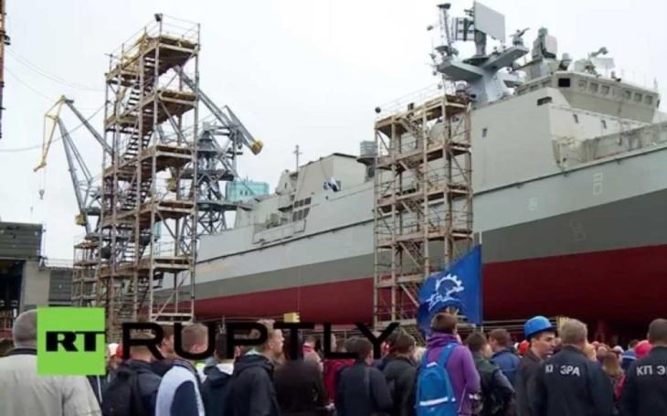 Třetí ruská víceúčelová fregata z třídy Admiral Grigorovič byla uvedena do služby