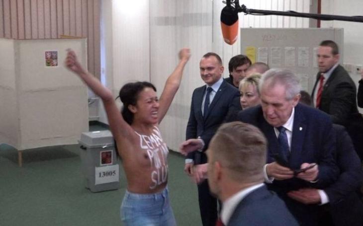 Prezident Zeman a útok ve volební místnosti