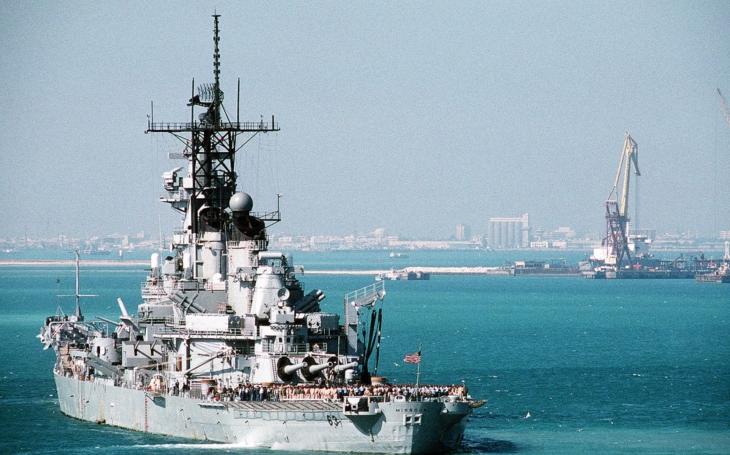 USS Missouri v plnej kráse