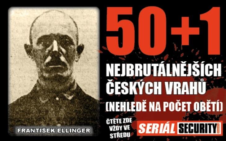 Vrah František Ellinger: Šilhavý pistolník, který vystřílel rodinu na policejní stanici. Dopadli ho vposteli s prostitutkou