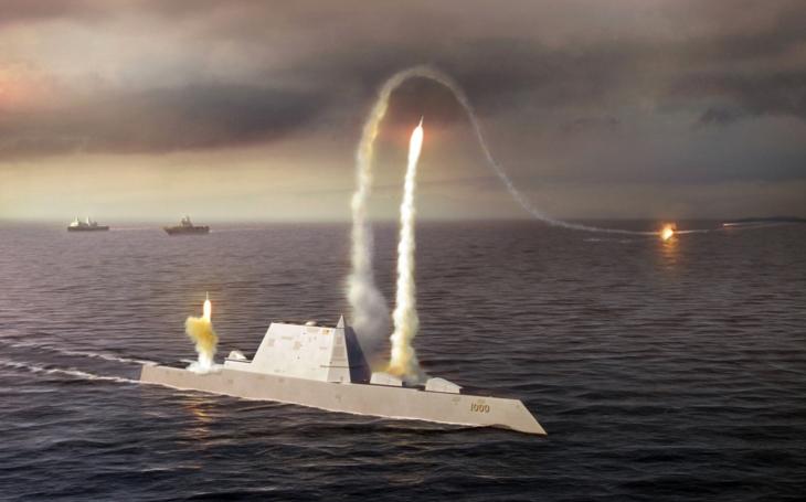 Z neviditelných torpédoborců Zumwalt se mají stát zabijáci lodí