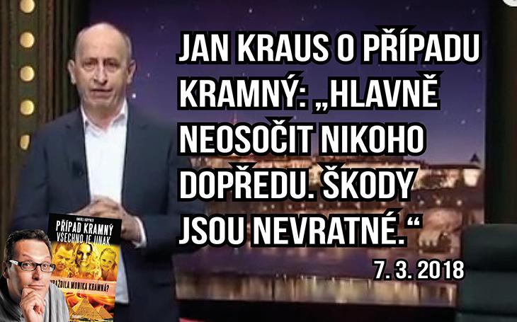 Případ Kramný: Moderátor Jan Kraus podporuje touhu po pravdě a varuje před křivým svědectvím