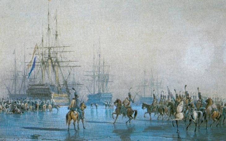 Jediný případ v historii, kdy zajala kavalérie flotilu válečných lodí