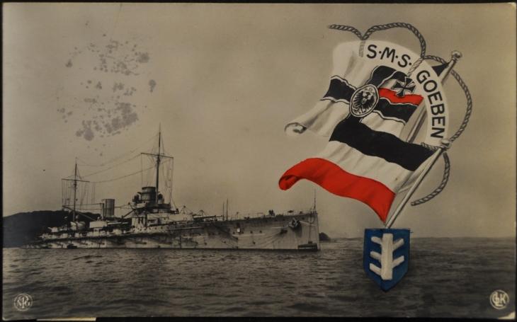 Hon na císařský bitevní křižník SMS Goeben se Britům nepovedl